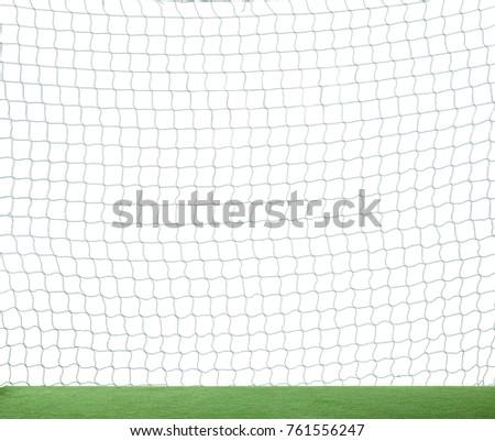 Football soccer net isolated