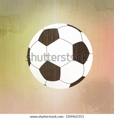 Football soccer on paper background