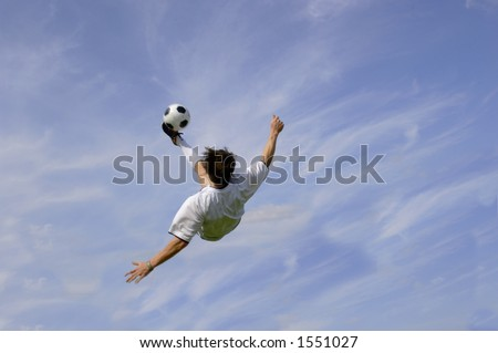 Football - Soccer Player performing Bicycle Kick