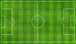 football stadium field top view