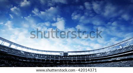 Football Stadium Horizontal - stock photo