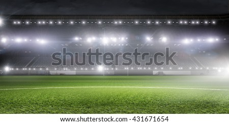 Football stadium in lights #431671654