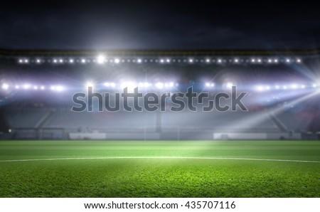 Football stadium in lights #435707116