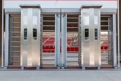 Football stadium turnstile entrance,entry gate