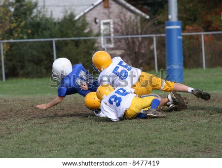 Football Tackle in Endzone