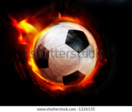 Football through flames