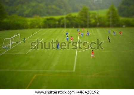 Football /Tilt-Shift - stock photo