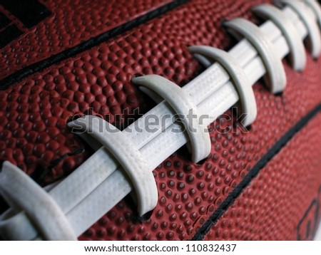 Football with Slanted Laces