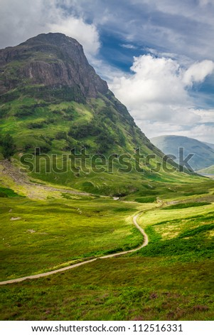 Footpath in Scotland highlands