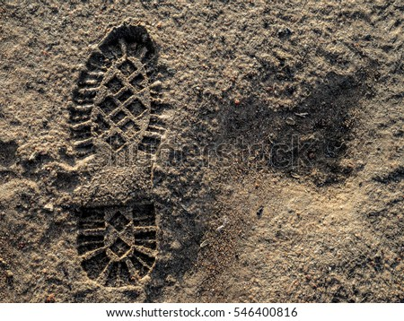 footprint in the dirt