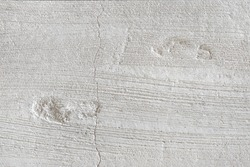Footprints on concrete or Footstep pattern seen on a concrete background