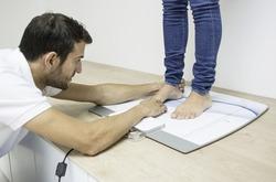 Footstep test. Podiatrist clinic