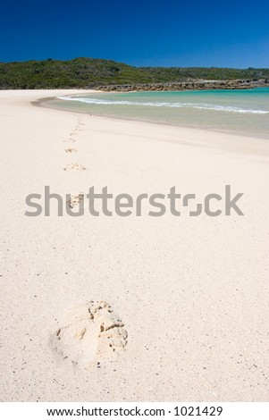 Footsteps, Jervis Bay, NSW, Australia