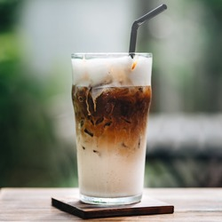 For a more refreshing coffee break. Iced cappuccino coffee
