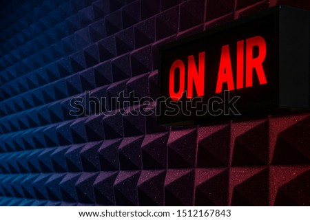 For radio stations: background with on air sign ストックフォト ©