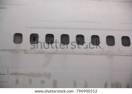 For the windows of the aircraft in the position of the passenger seat, there are three layers: the outer layer, the middle layer and the inner layer. #796900552