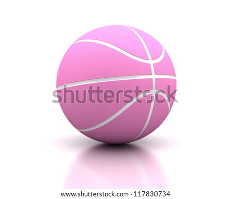 For woman basketball on white background (Computer generated image)