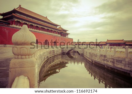 Forbidden City -  canal