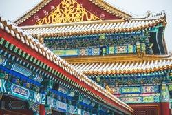 Forbidden City Hall In Beijing During Snowing