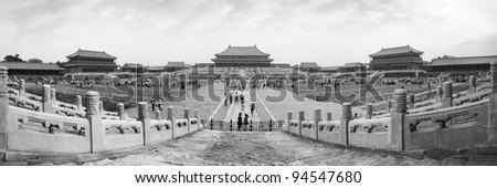 Forbidden city panoramic view