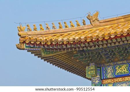 Forbidden City Roof Corner in Beijing, China