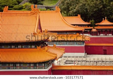 Forbidden city's roof, Beijing