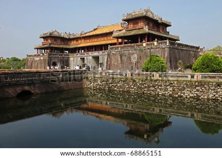 Forbidden palace in Hue Vietnam