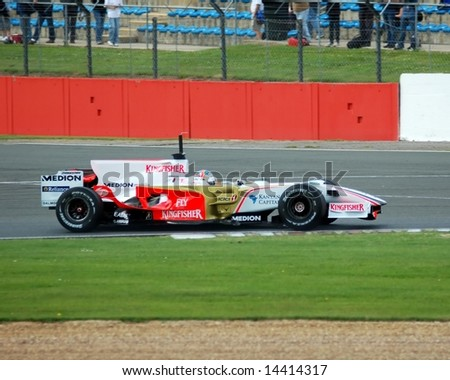 Force India Formula one Racing Team complete tyre testing June 24, 2008 at Silverstone Racing circuit UK
