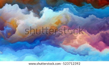 Stock Photo Forces In Nature 4K format. Abstract design made of surreal colors and digital painting on the subject of fiction, dreams and imagination