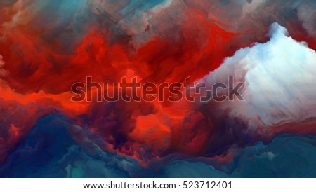 Shutterstock Forces In Nature 4K format. Arrangement of surreal colors and digital painting on the subject of fiction, dreams and imagination