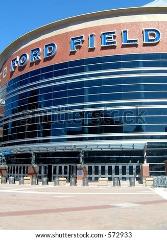 Ford Field, home of the NFL's Detroit Lions and host to Super Bowl XL (40) in 2006.