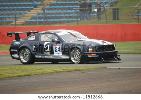 Championship Auto Racing Teams Management on Ford Mustang Gt Championship Racing Car Stock Photo 11812666