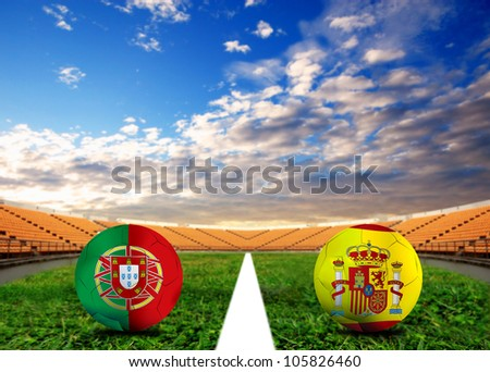 Forecast European Championship the  European cup four team last Competition between Portugal vs Spain
