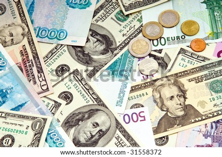 foreign currency background