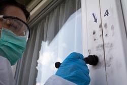 Forensic experts finds fingerprints on the window