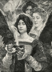 Forest flavor. Engraving by Bod from picture by Maxence. Published in magazine