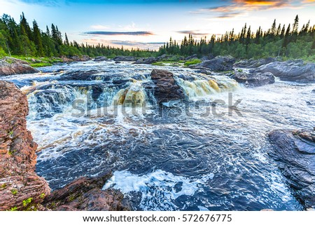 Forest river rapids landscape #572676775