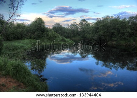 forest river, Russia #133944404