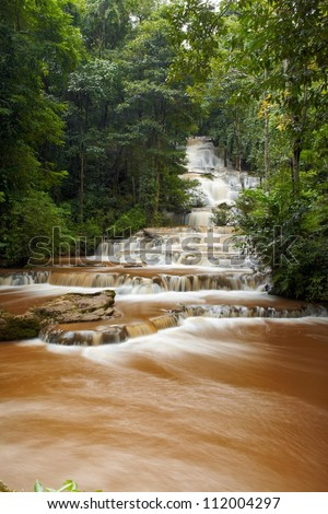 Forest waterfall in Tak province, Thailand