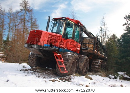 Forestry logging vehicle