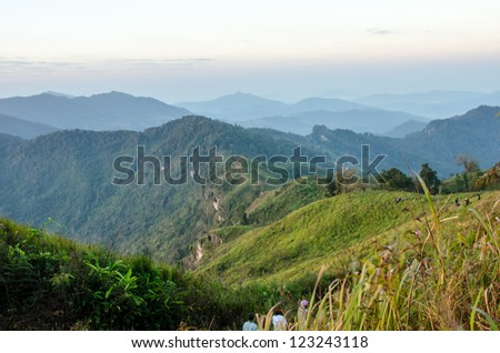 Forests and mountains in Thailand