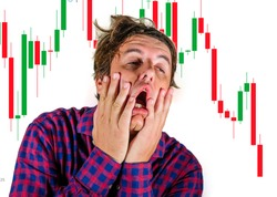 forex and stocks market trading stress and risk - crazy stressed and desperate amateur trader man and investor blowing money out of losing trade in wrong investment feeling upset