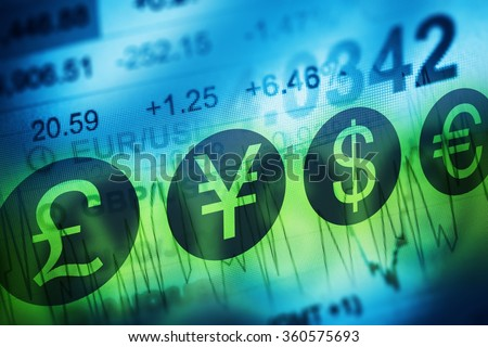 forex currency trading concept. ...