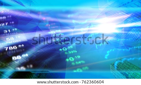 Forex, finance, economy, invest illustration. Concept image in corporate blue design, header for stock and forex market or financial news.
