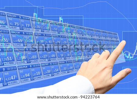 Forex trading - stock photo