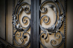 Forged elements of a modern metal gate