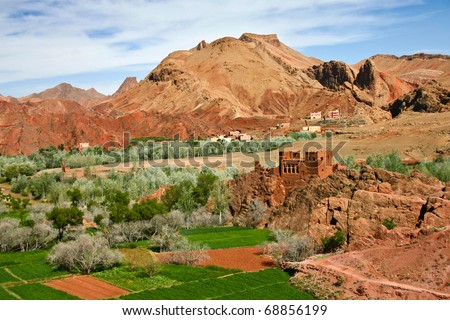 Forgotten Kasbah near Ouarzazate, Atlas Mountains in Morocco