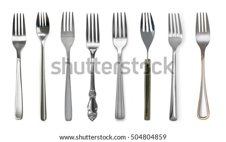 Photo of fork isolated on white background
