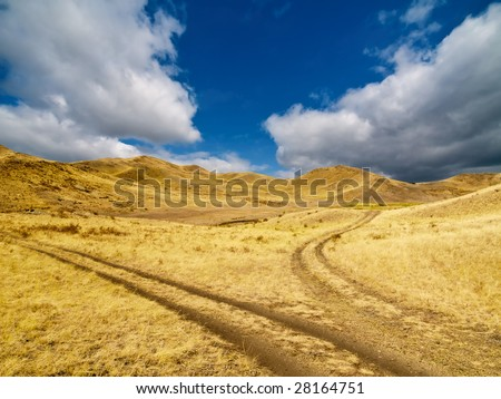 Fork of unpaved road. Alternative concept