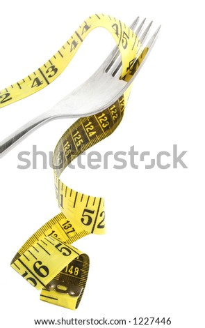 Fork with measuring tape dangling